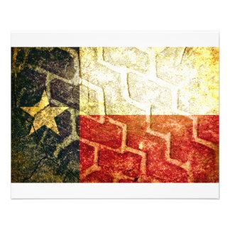 "Texas Flag Mud Tire 4.5"" X 5.6"" Flyer"