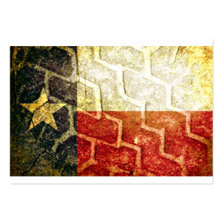 Texas Flag Mud Tire Large Business Card