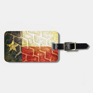 Texas Flag Mud Tire Luggage Tags