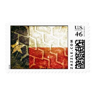 Texas Flag Mud Tire Postage