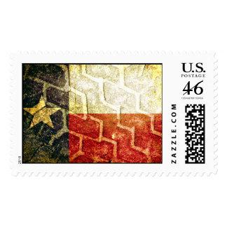 Texas Flag Mud Tire Postage Stamp