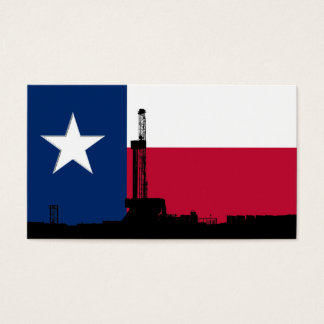 Texas Flag Oil Drilling Rig Business Card