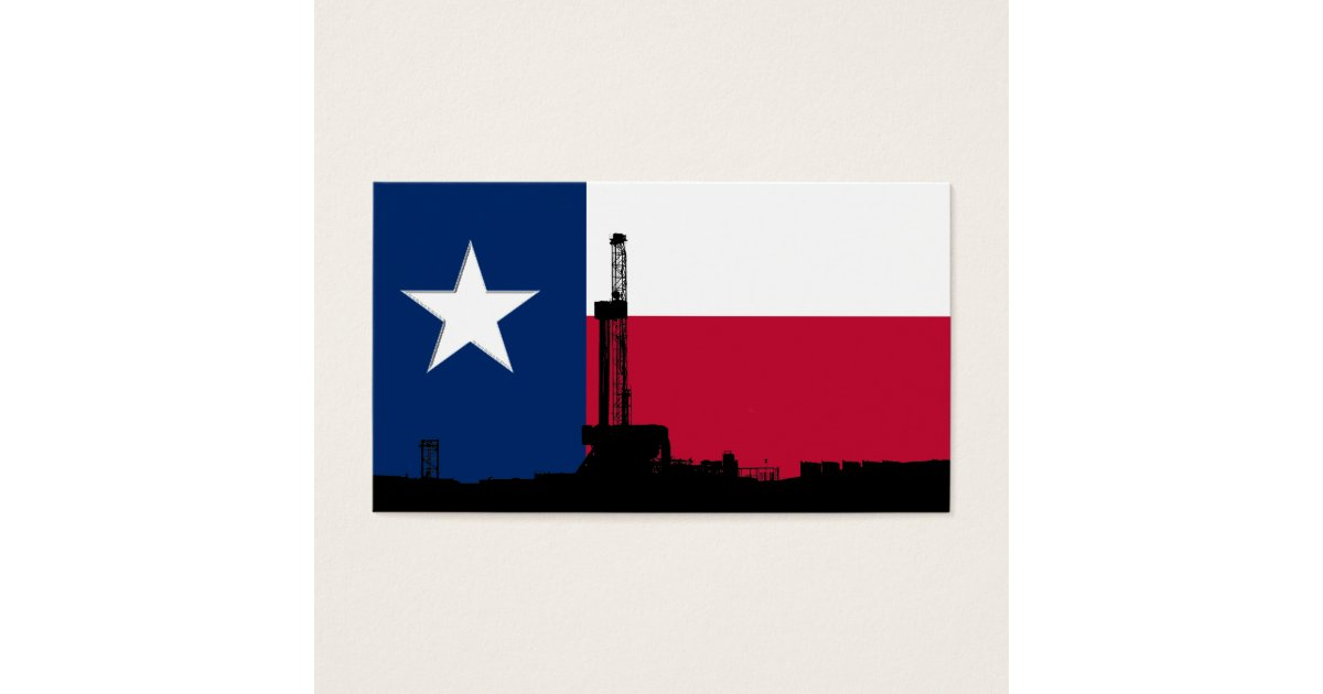 Texas Flag Oil Drilling Rig Business Card | Zazzle.com