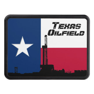 Texas Flag Oil Drilling Rig Trailer Hitch Cover