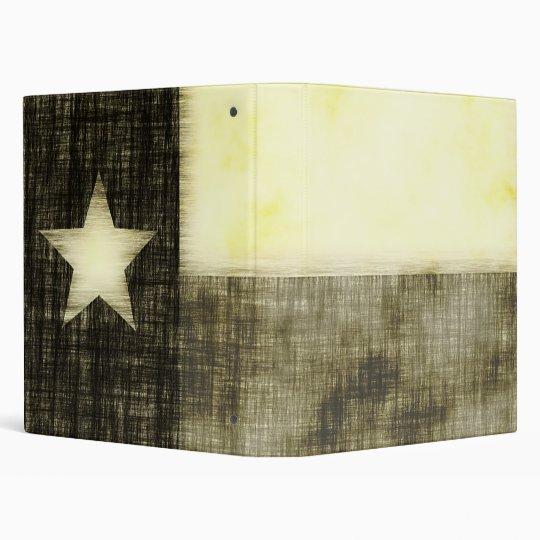 TEXAS FLAG OLD DRAWING 3 RING BINDER