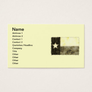 TEXAS FLAG OLD DRAWING BUSINESS CARD