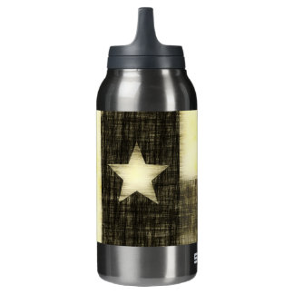 TEXAS FLAG OLD DRAWING INSULATED WATER BOTTLE
