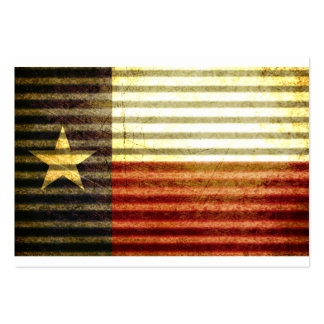 Texas Flag Old Tin Roof gear Business Cards
