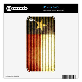 Texas Flag Old Tin Roof gear iPhone 4S Skins