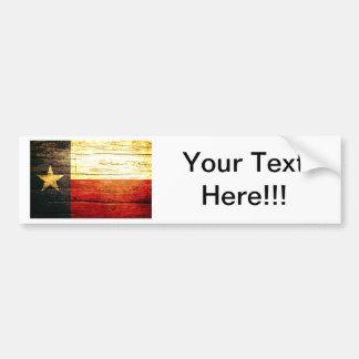 Texas Flag Old Wood Bumper Sticker