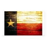 Texas Flag Old Wood Double-Sided Standard Business Cards (Pack Of 100)