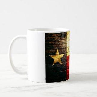 Texas Flag Old Wood Classic White Coffee Mug