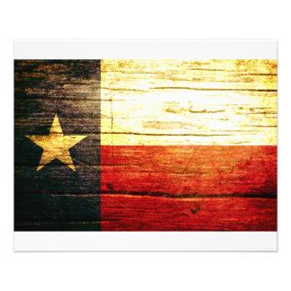 Texas Flag Old Wood Flyer Design
