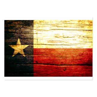 Texas Flag Old Wood Large Business Card