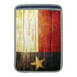 Texas Flag Old Wood MacBook Sleeves