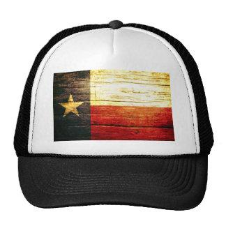 Texas Flag Old Wood Trucker Hat