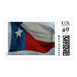 Texas Flag, On Earth as it is in Texas Postage
