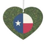 Texas Flag on Grass Car Air Freshener