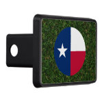 Texas Flag on Grass Hitch Cover
