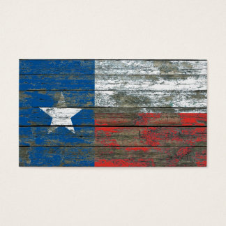 Texas Flag on Rough Wood Boards Effect Business Card