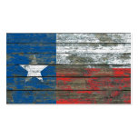 Texas Flag on Rough Wood Boards Effect Double-Sided Standard Business Cards (Pack Of 100)