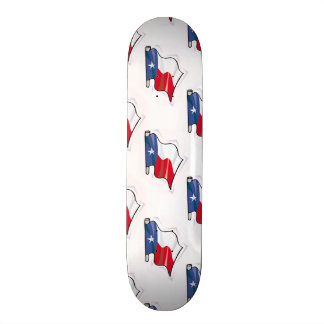 Texas Flag Pattern; Texan Skateboard Deck