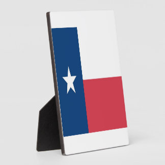 Texas Flag Photo with Easel Plaque