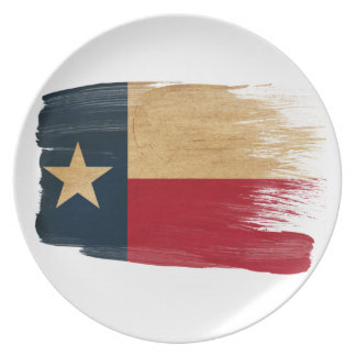 Texas Flag Party Plate