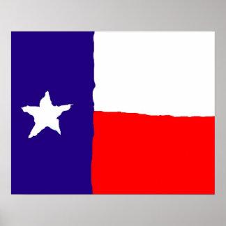 Texas Flag Pop Art Poster - American States Prints