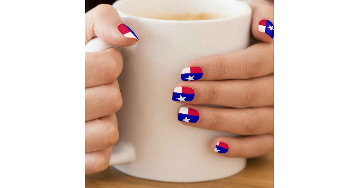 Fantastic Texas Flag Nail Art Adornment - Nail Polish Ideas ...