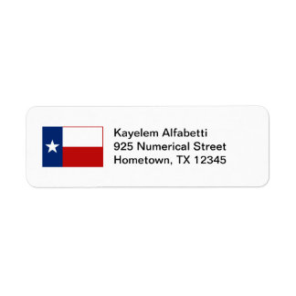 Texas Flag Return Address Label