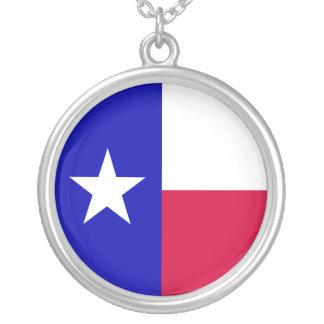 Texas Flag Round Pendant Necklace