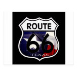 Texas Flag Route 66 Shield Post Cards