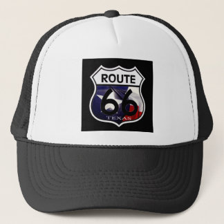 Texas Flag Route 66 Shield Trucker Hat
