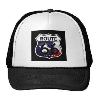 Texas Flag Route 66 Shield Trucker Hat