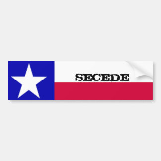 Texas Flag Secede Sticker Car Bumper Sticker