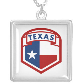 Texas Flag Silver Plated Necklace