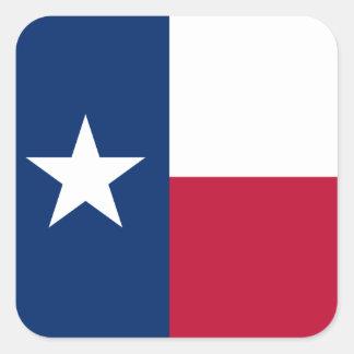 Texas Flag Square Sticker