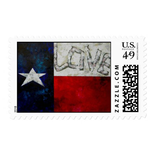 Texas Flag stamp