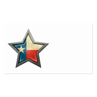 Texas Flag Star Double-Sided Standard Business Cards (Pack Of 100)