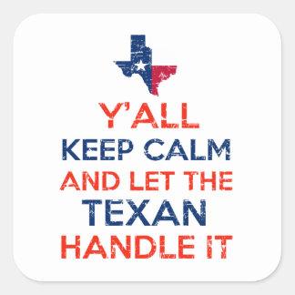 Texas Flag tees Square Sticker