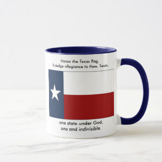 Texas Flag  - Texas Pledge Mug