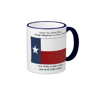 Texas Flag  - Texas Pledge Ringer Coffee Mug