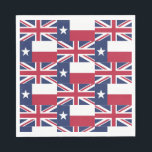 "Texas Flag Union Jack Flag Paper Napkins<br><div class=""desc"">Having a party for your Texas / British expatriate? Use these paper napkins showing the Union Jack and the Texas flags! Your expats will feel right at home with their British and Texas branding.</div>"