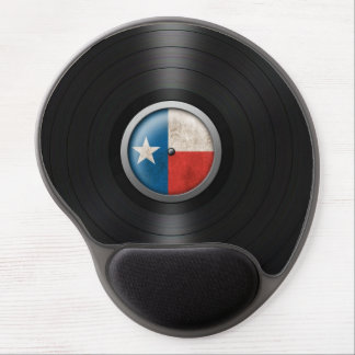 Texas Flag Vinyl Record Album Graphic Gel Mouse Pad
