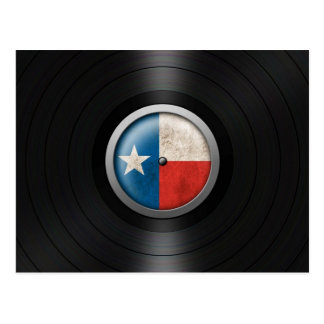 Texas Flag Vinyl Record Album Graphic Postcard