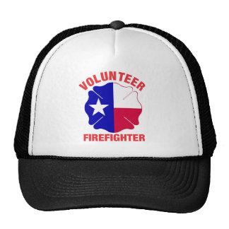 Texas Flag Volunteer Firefighter Cross Trucker Hat