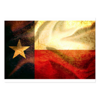 Texas Flag waving silk Large Business Cards (Pack Of 100)