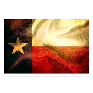 Texas Flag waving silk Large Business Card