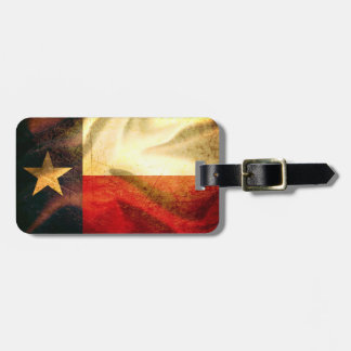 Texas Flag waving silk Luggage Tags